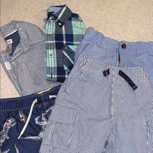 Lot of Toddler Boy 3t Button ups and Shorts